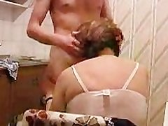 Granny Gets Fucked In Cookhouse