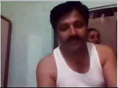 indian panhandler getting horny on webcam with the addition of showing his wife to partner