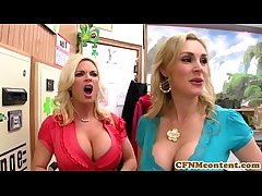 CFNM Tanya Tate creampied respecting fourway fun