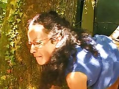 French grown-up hairy housewife outdoor