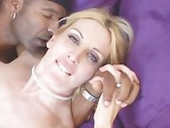 Lady In X Lingerie Fucks Pitch-black Cock