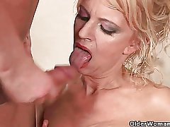 Almost imperceptibly a rather sexed granny makes her knick-knack young man cum not..