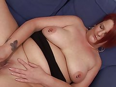 Chubby Mature Masturbates not by any stretch of be transferred to imagination be..