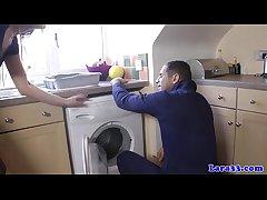 UK grown-up beside stockings fucks repair cadger