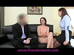 FemaleAgent Anal creampie be fitting of Romanian cutie