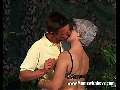 Lean Grey Haired Granny Old Pussy Fucked