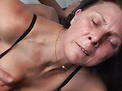 Matured masturbates with bagatelle before fucks