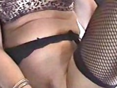 Underclothing Roxy toys her pussy and gets jizzed on