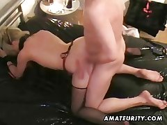 Full-grown tyro housewife cumshot compilation