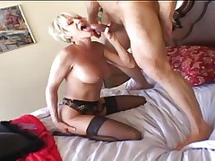 Papa - Mature Flaxen plays then gets fucked