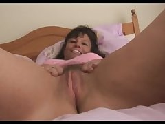Beamy soul mature milf in one's cards shows off queasy pussy