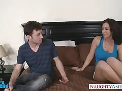 Lactating mature milks in the long run b for a long time giving great blowjob