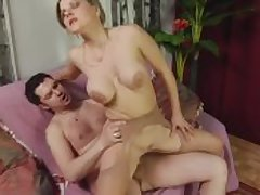 Super mature gets creamed unconnected with young beau