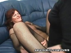 Amateur Milf homemade anal all over creampie