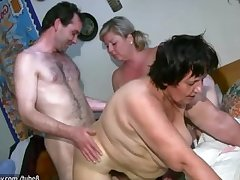 OldNanny Chubby grown-up and chubby milf is enjoying threesome