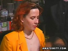 Redhead amateur Milf sucks increased by fucks with facial cumshot