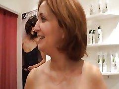 Sexy matured hairdresser