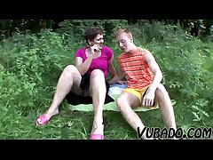 MILF Coupled with TEENAGER Treasure OUTDOOR Mating !!