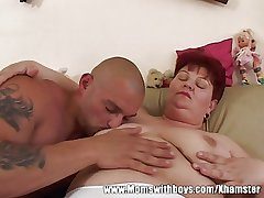 Sex-crazed Mature Son Seduces The TV repair-Man