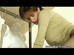 Gaffer adult euro milf acquiring licked up her stockings