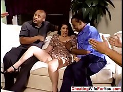 Mature get hitched gangbanged by bbc