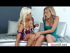 Mature Lesbians (Brianna Plank & Holly Brooks) Lick And Play Nearby Their..