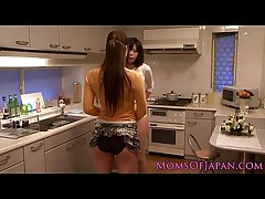 Japanese mature receives vocal stranger babe