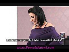 FemaleAgent Facsimile cumshot surprise for MILF