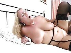 A plump mature German lass