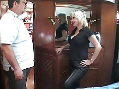 mature British blonde having it away om a row-boat