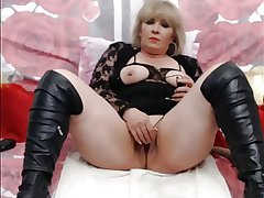 Blonde Mature Exposed to WebCam