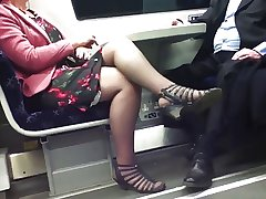 Candid Crestfallen Crossed Legs 8. Hot Mature! (+slow motion)