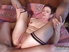 Torrid french of age double vaginal choked together with sodomized