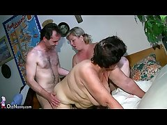 OldNanny Chubby mature with an increment of chubby milf shot threesome sex